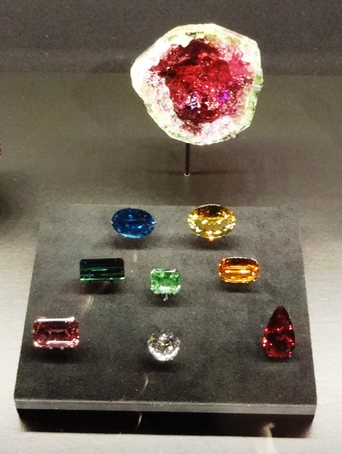 Gemstones at the Canadian Museum of Nature. Photo by Alan Viau