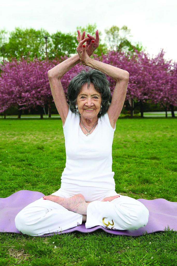 "Tao Porchon-Lynch, 98, sits in a lotus pose. In 2012, the grande dame of yoga was officially named the world's ""Oldest Yoga Teacher"" by Guinness World Records. WENN.COM/NEWSCOM"