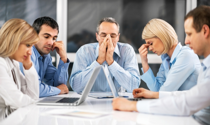 Five stressful businesspeople having problems at work.  [url=http://www.istockphoto.com/search/lightbox/9786622][img]http://dl.dropbox.com/u/40117171/business.jpg[/img][/url]